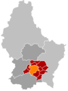 Localisation de Luxembourg au Luxembourg
