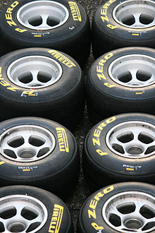 Photo de pneumatiques Pirelli de Formule 1
